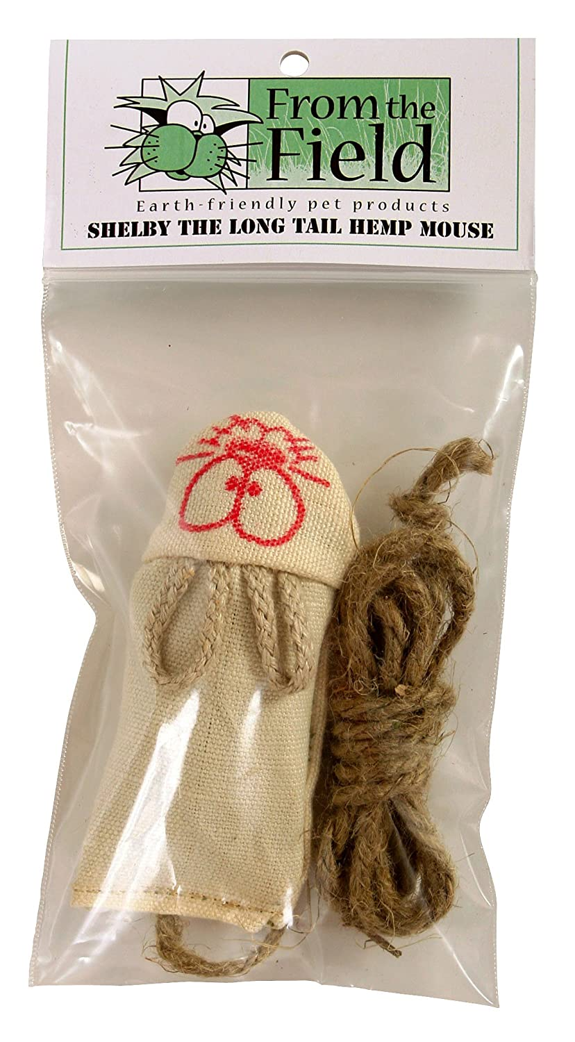 From The Field Shelby The Long Tail Hemp Mouse Catnip Toy hot sale 2017