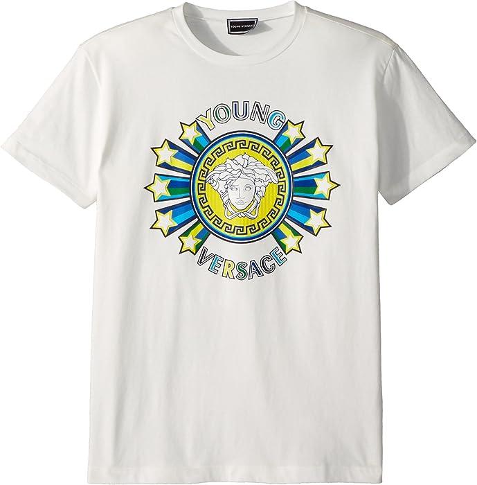 b85e09be5 Amazon.com: Versace Kids Boy's Short Sleeve Medusa Logo Graphic Tee (Big  Kids) White 11-12: Clothing