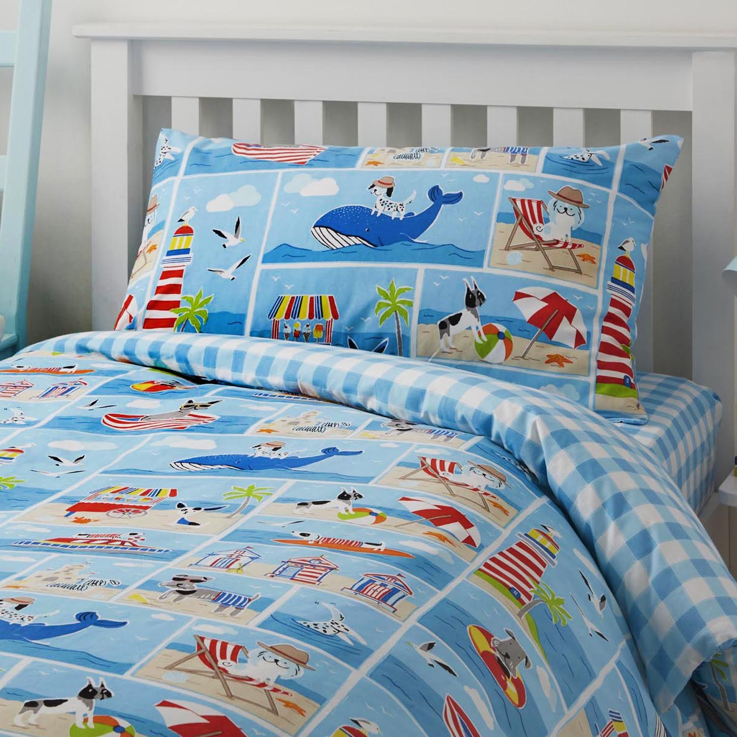 Bedlam 'Patch Seaside' Childrens Duvet Cover Set, Double J Rosenthal PHDMI21PHU