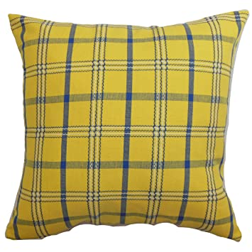 Amazon.com: the pillow collection Varden a cuadros almohada ...