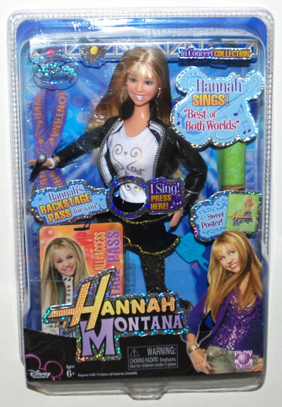 Hannah Montana - In Concert Collection - 'Best of Both Worlds' Play Along 687203200415 CHAR-HANM-DOLL-BEST_OF_BOTH_WORLDS_SINGI