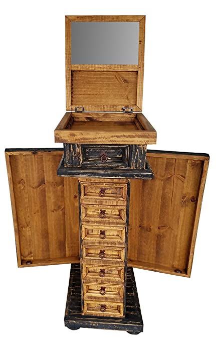 Rustic Jewelry Armoire Awesome Amazon Rustic Western Jewelry Armoires Solid Wood Already