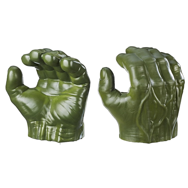 Marvel Avengers Incredible Hulk Gamma Grip Fists Smash Green Hands Figure Gloves