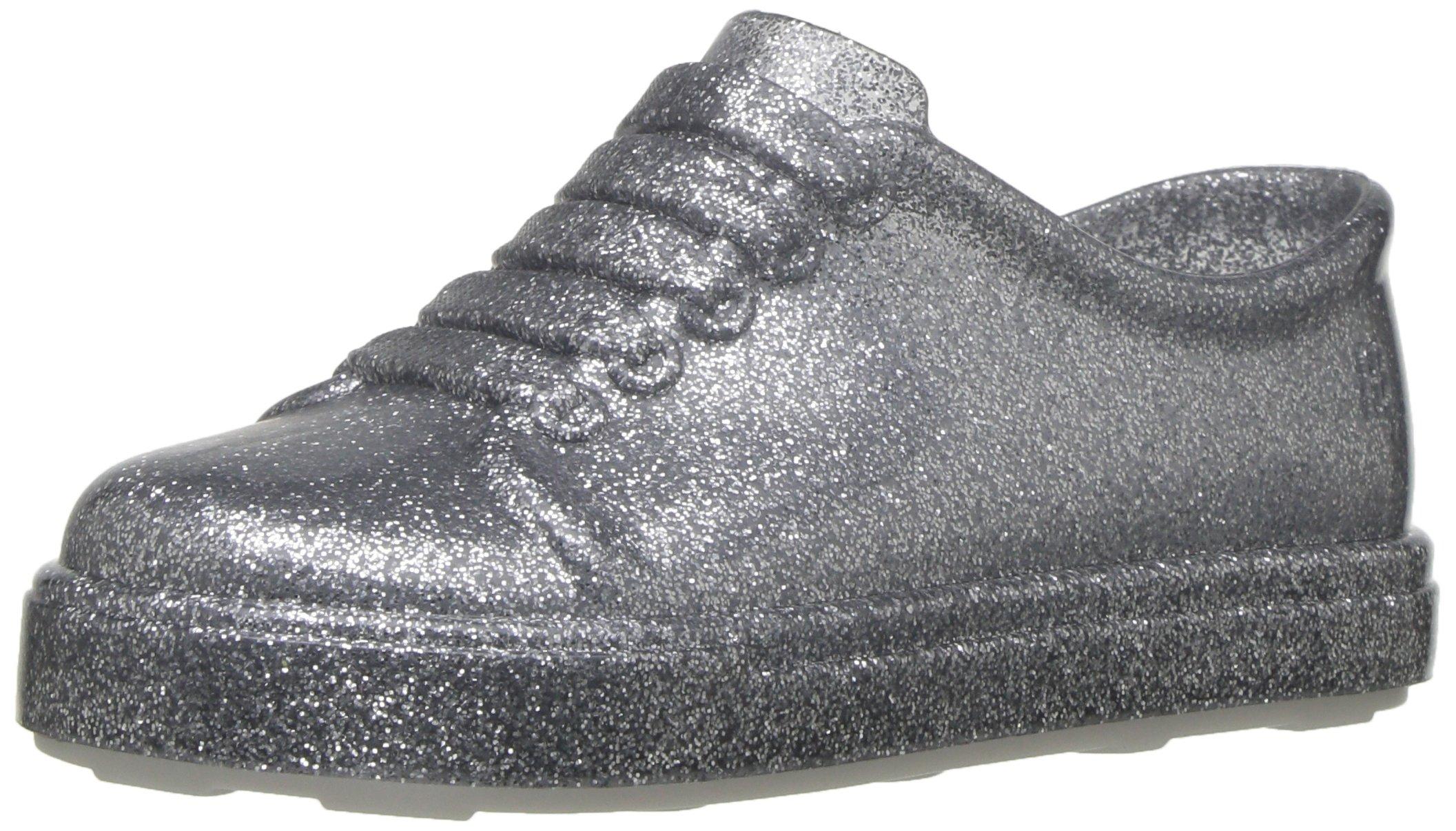Mini Melissa Girls' Mini BE Sneaker, Silver, 5 Regular US Toddler