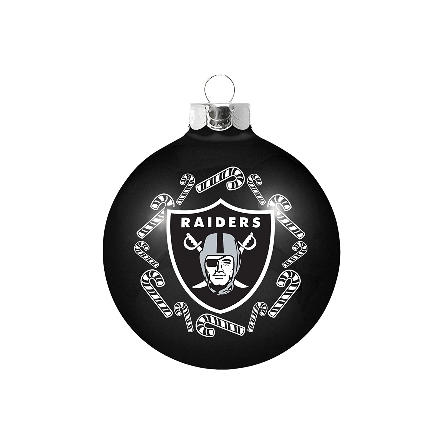 Amazon.com : NFL Oakland Raiders Small Ball Ornament : Sports & Outdoors