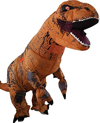 T-Rex Inflatable Dinosaur Mascot Party Costume Fancy Dress Cosplay ...