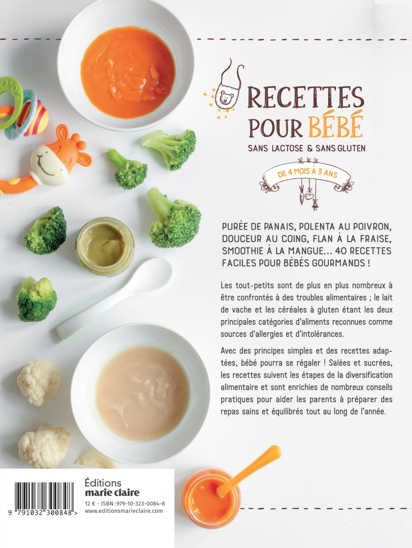 Amazonfr Recettes Pour Bébé Sans Lactose Sans Gluten De - Recette de cuisine pour bebe