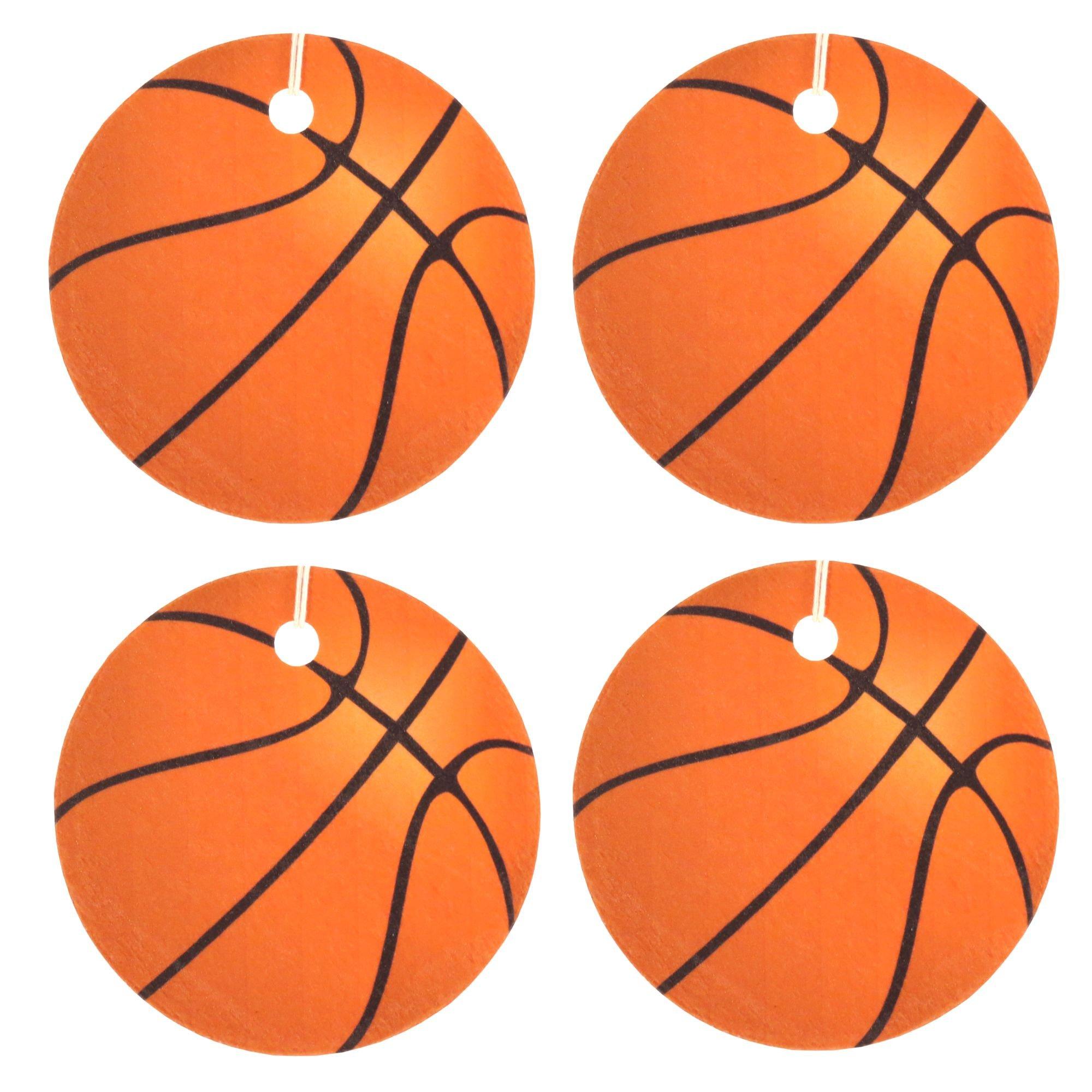 Set of Four Basketball Air Fresheners, Cedarwood Essential Oil