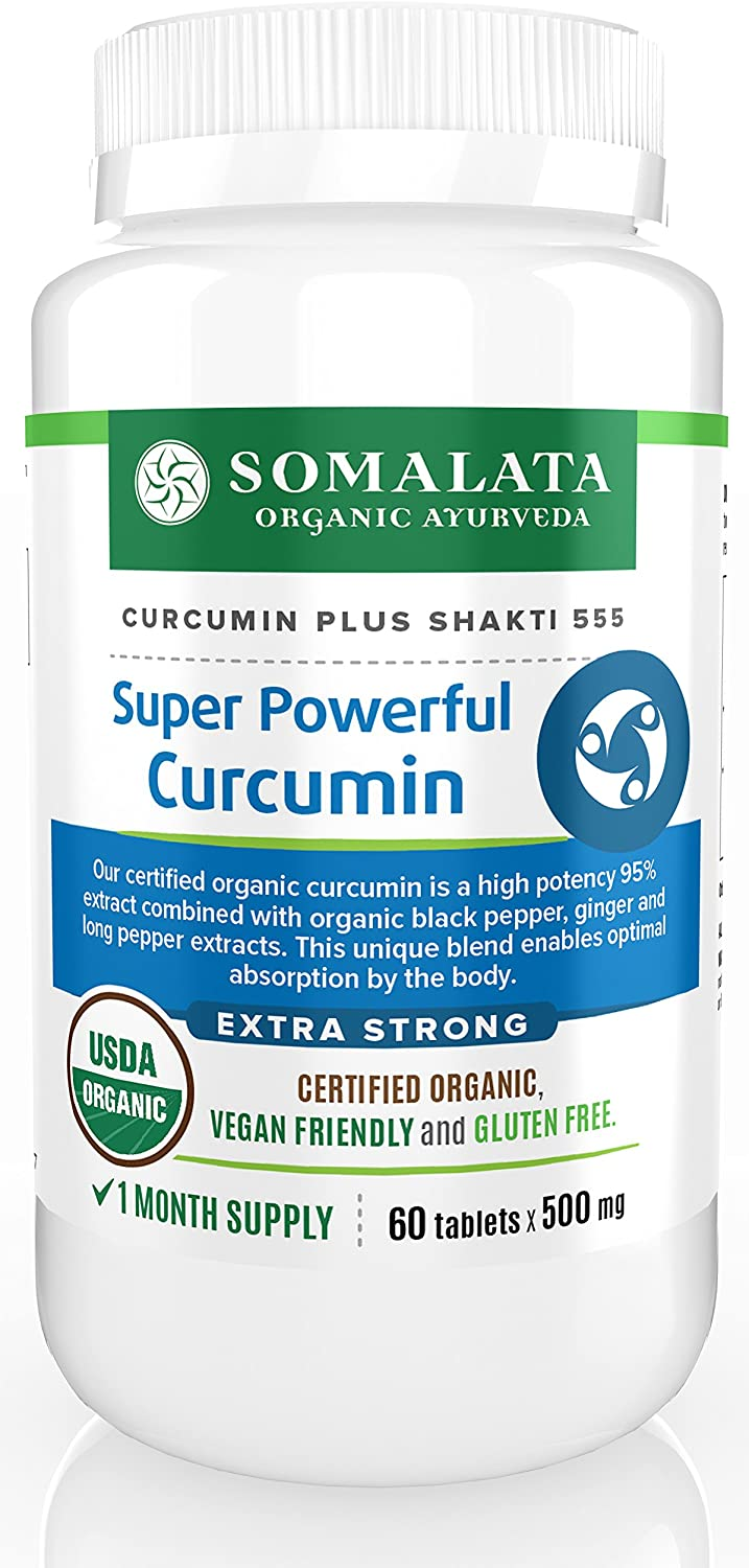 Super Powerful Curcumin – Organic 95 Curcuminoids with Black Pepper and Ginger – 500 mg