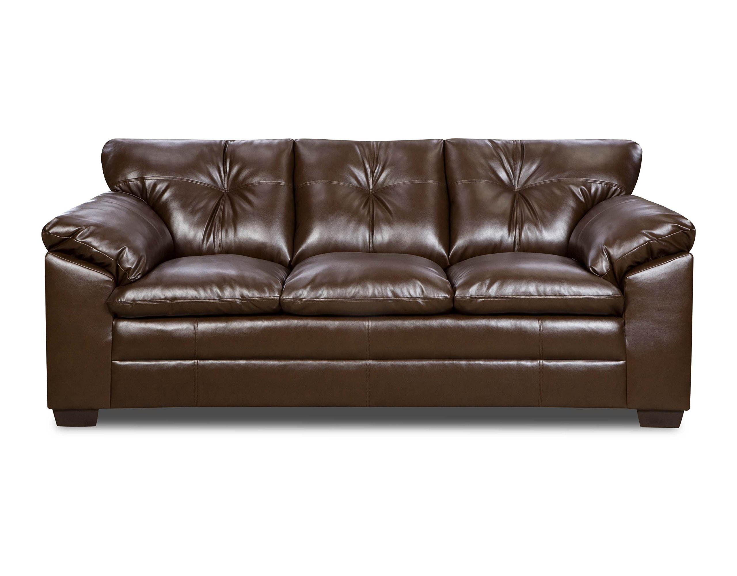 Simmons Upholstery 6569-03 Sebring Coffeebean Bonded Leather Sofa