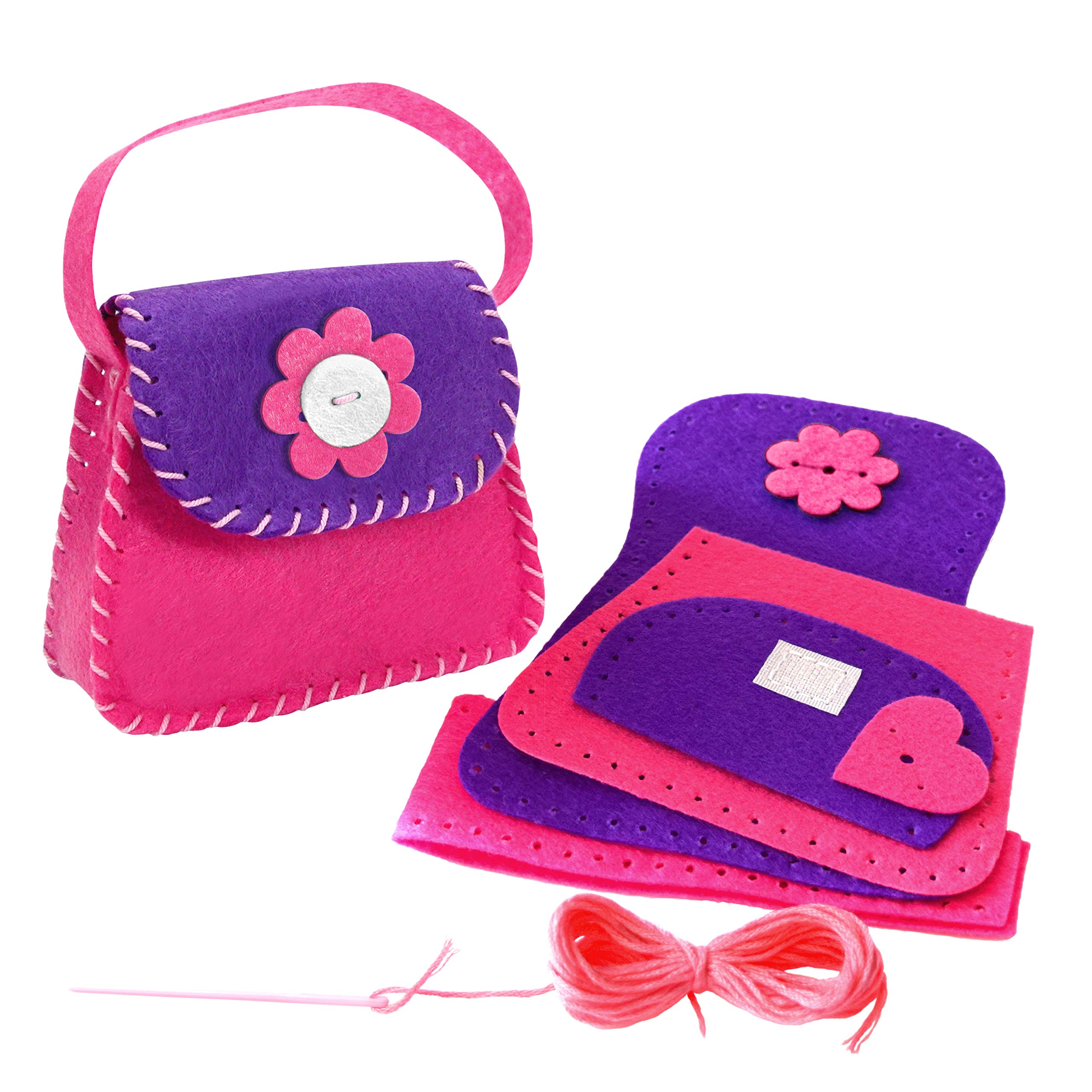 Learn How to Sew Doll´s Felt Bag for Kids Aged 6 to 11. Perfect Beginner Sewing Kit for Kids. First Mini Sewing Project and Crafts Kits for Children by Happy & Creative Crafts