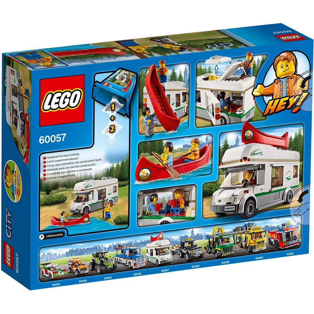 Lego City Great Vehicles 60057 Camper Van Amazon Toys Games
