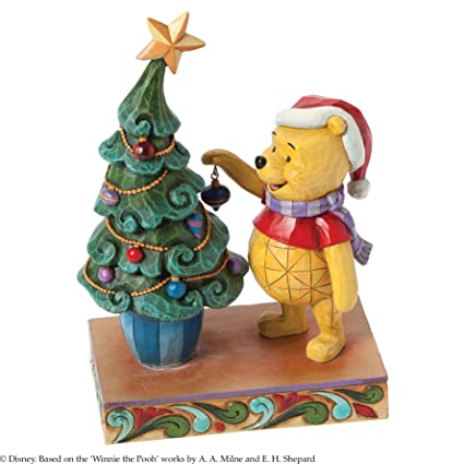 jim shore for enesco disney traditions by winnie the pooh decorating figurine 7375 inch - Winnie The Pooh Christmas Decorations