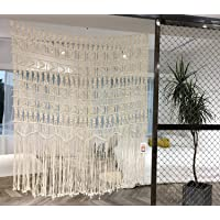 """Macrame Wall Hanging Boho-Inspired Touch Window Curtain,52""""Wx56""""H"""