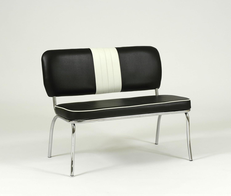 American Diner Furniture 50s Style Retro Bench Black: Amazon.co.uk: Kitchen  U0026 Home