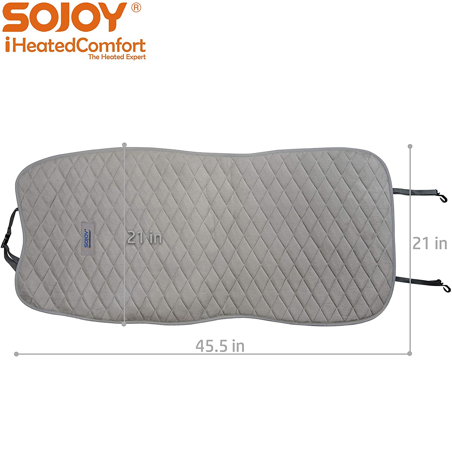 Gray, Smart, Multifunctional 3 Temp Switch Sojoy Auto USA Sojoy Universal 12V Heated Car Seat//Cushion Warmer High//Low 45 Mins Automatically Turn-Off Timer