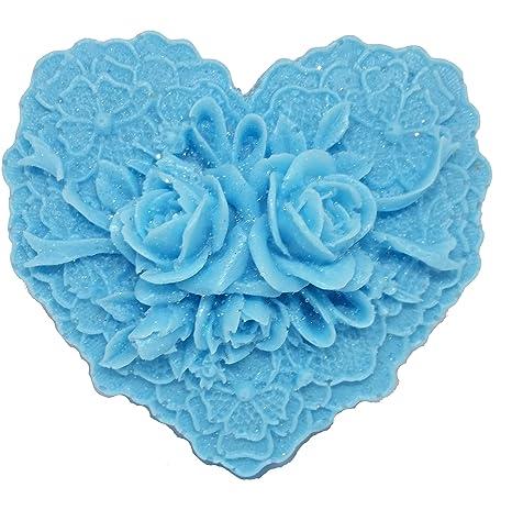 Coronado Home - Molde para jabón y vela, diseño floral con encaje ...