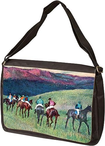 Horse Racing -The Training by Edgar Degas Laptop Bag – Shoulder Bag – Messenger Bag