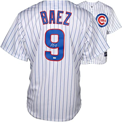 8f4a25acc Javier Baez Chicago Cubs Autographed Majestic Replica White Jersey -  Fanatics Authentic Certified - Autographed MLB