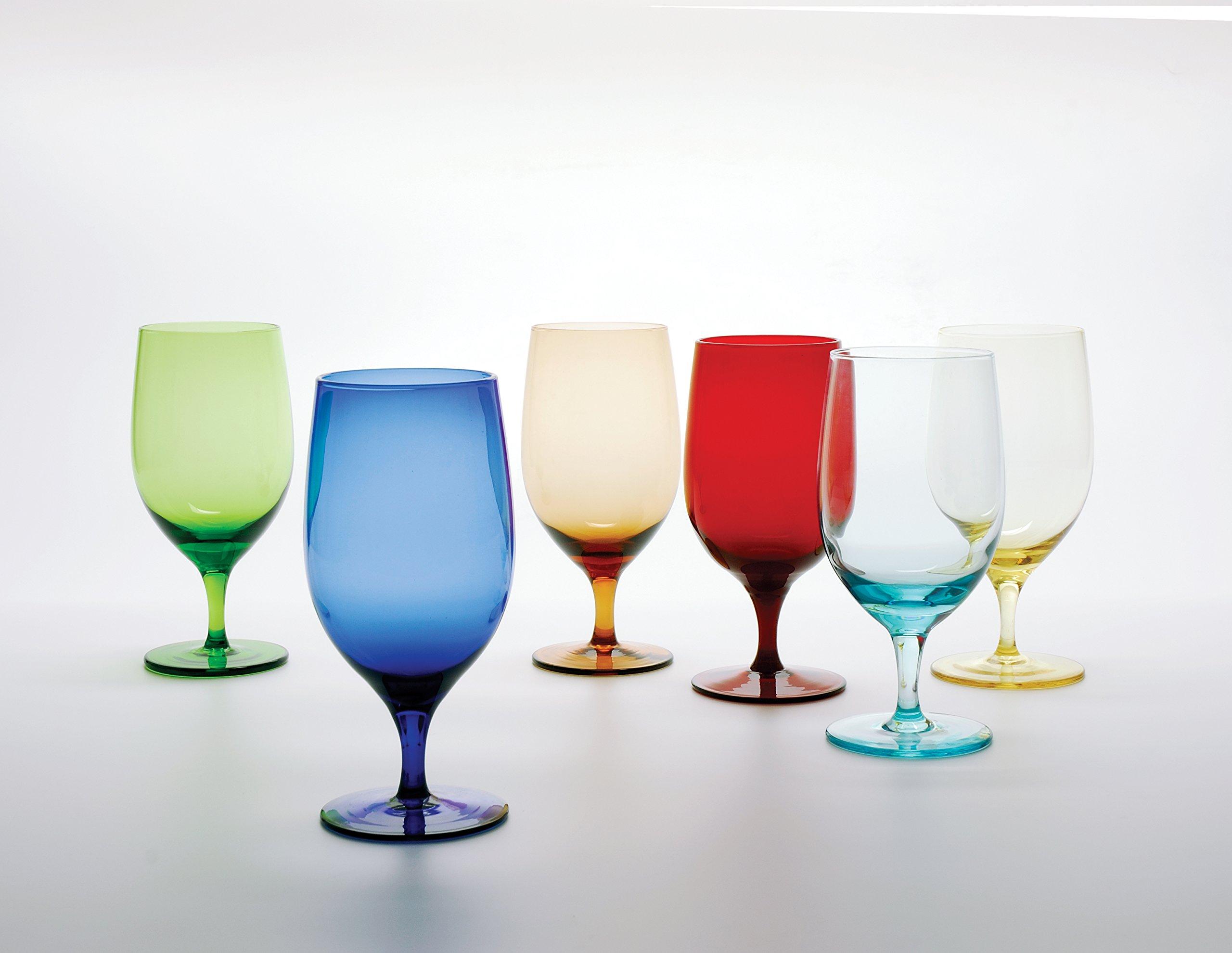 D&V Glass Gala Collection Goblet/Beverage Glass 15 Ounce, Cobalt, Set of 12 by D&V (Image #2)
