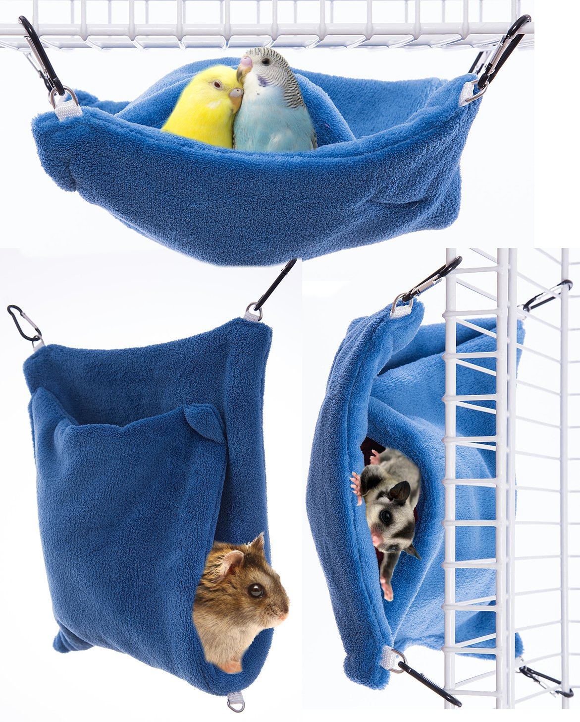 Small Pet Pocket Hammock – Made in the USA (Blue, Small)