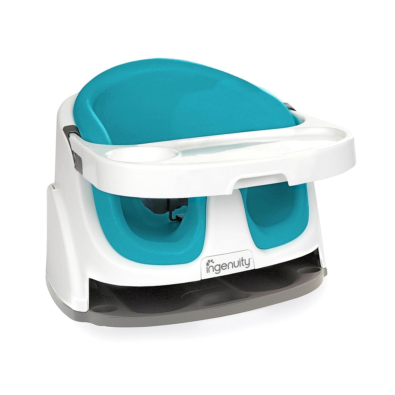 Ingenuity 60279 - Asiento 2-en-1 para bebé y trona portátil, aguamarina Kids II 60279-2-W11