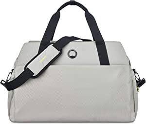 DELSEY Paris Daily's Travel Duffel Bag with Laptop Sleeve, Light Gray, 15.6 Inch