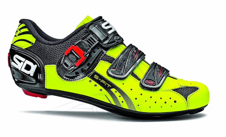 Zapatillas Carretera Sidi Genius 5 Fit Negro Amarillo Fluo 2014: Amazon.es: Zapatos y complementos