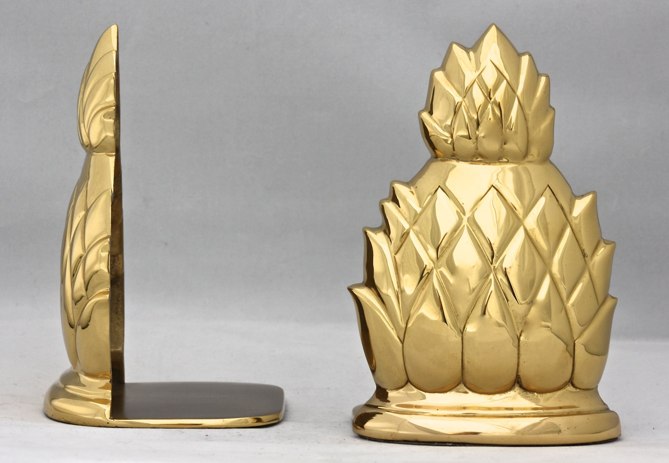 Brass & Silver Traditions Pineapple Bookends