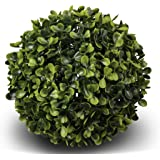 """SilkenBloom Brand 5"""" boxwood Ball-shaped Artificial Topiary Sphere Orb Indoor Outdoor"""