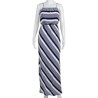5031275d4ce1 Amanda Uprichard Womens Striped Maxi Dress Navy White Extra Small