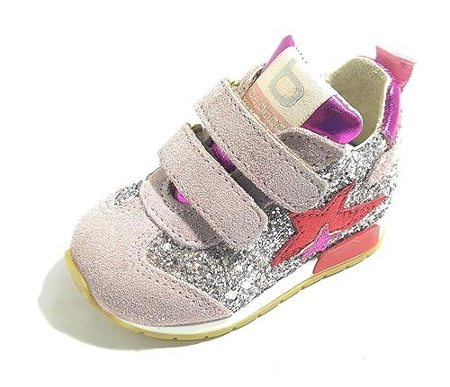 BALDUCCI CSPORT 1503 Rosa Scarpe Bambina Sneakers Chiusura a Strappo Baby  (18 EU) 6255193fa91