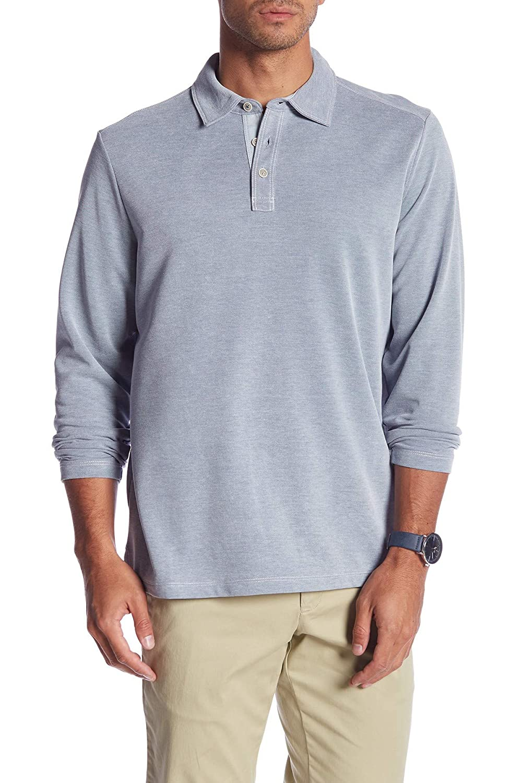 Tommy Bahama Long Sleeve Shoreline Surf Golf Polo Shirt: Amazon.es ...
