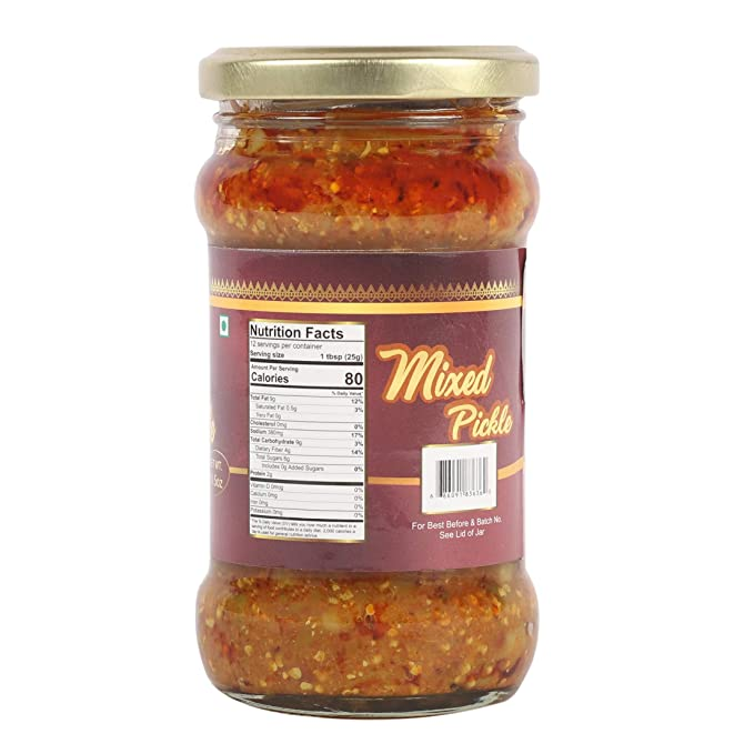 Amazon Com Taj Gourmet Mixed Pickle Mix Achar 300g 10 5oz Grocery Gourmet Food