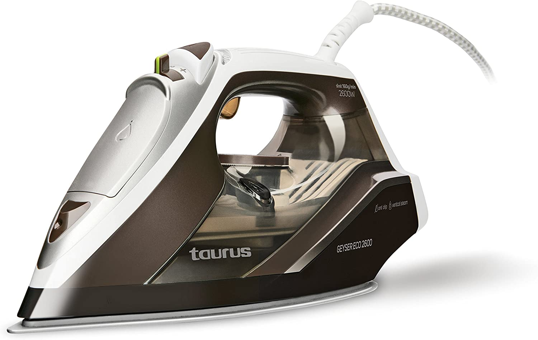Taurus Geyser ECO 2600 2600-Plancha W, 160 g/min, punta de precisión, regulador de vapor y temperatura, Azul, Blanco