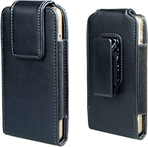 iPhone Se 2020 8 7 6s Holster Case, Gcepls Leather Pouch Sleeve Carrying Case with Belt Clip Holster for iPhone Se2 iPhone 8 7 6 6s S7(Vertical Black)