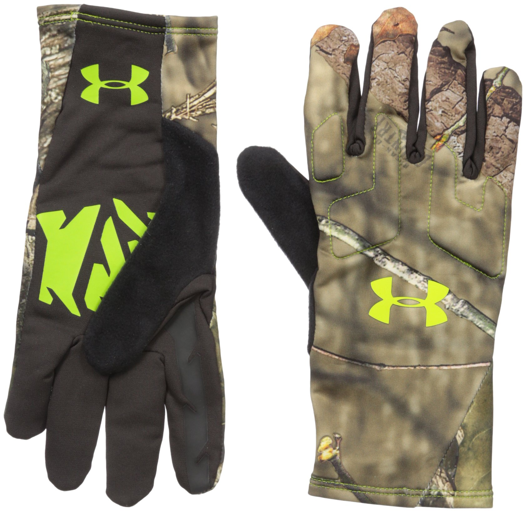 Under Armour Men's Scent Control 2 Hunting Gloves, Mossy Oak Open Count (278), Medium by Under Armour