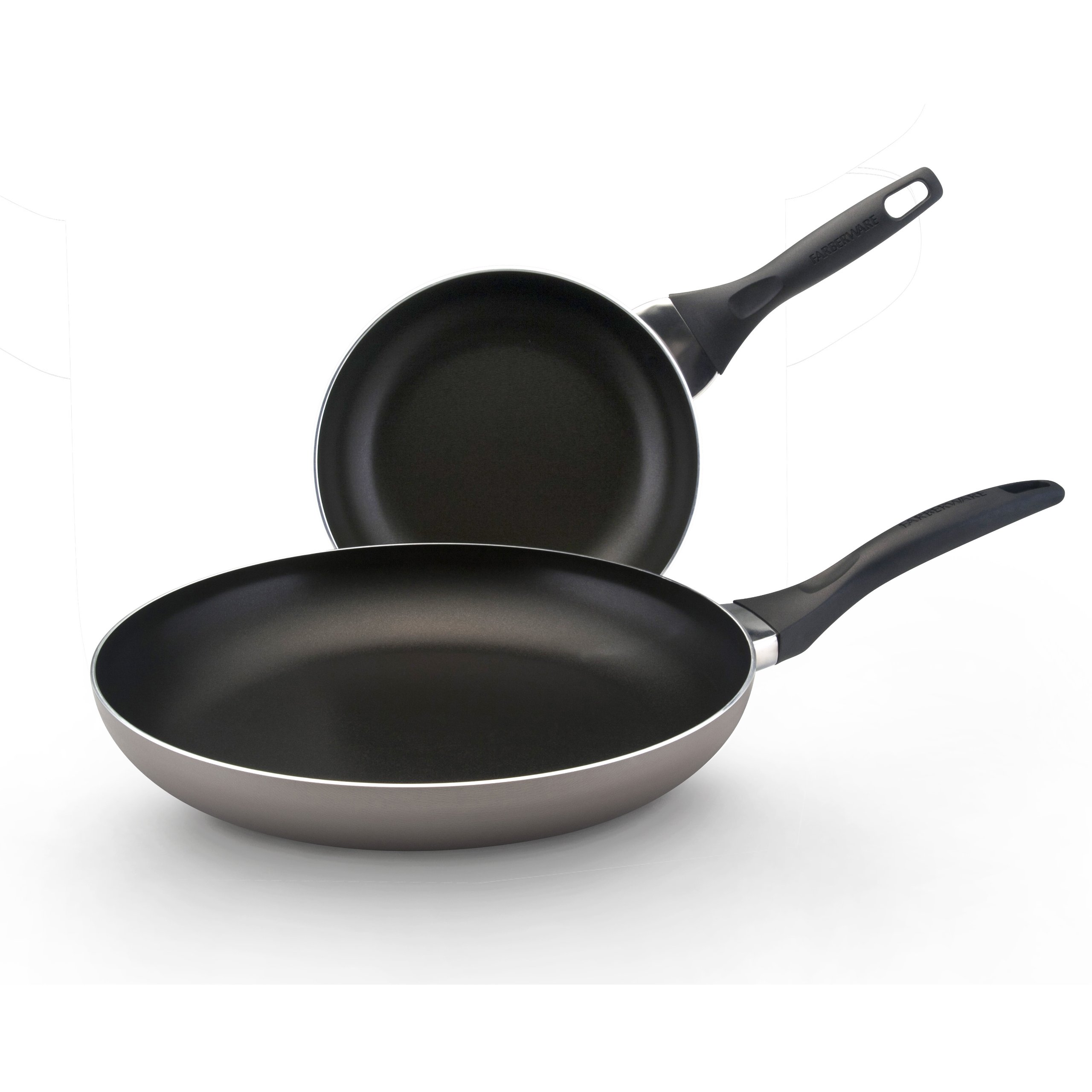 Farberware Dishwasher Safe Nonstick Aluminum 8-Inch and 10-Inch Twin PackSkillet Set, Champagne