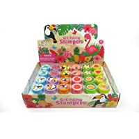 TINYMILLS 24 Pcs Flamingo Tropical Luau Stampers for Kids