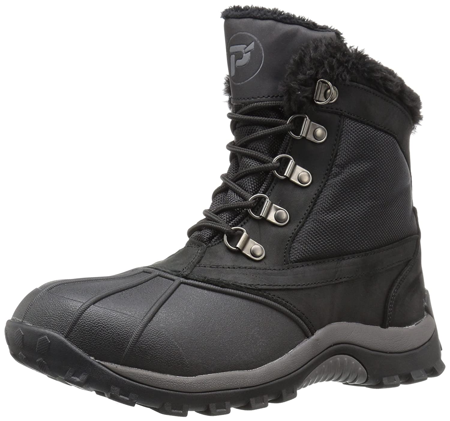 Propet Women's Blizzard Mid Lace Ii Winter Boot B01AYP34M6 8 2E US|Black/Nylon