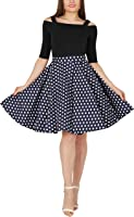 BlackButterfly Vintage Polka Dot Full Circle 1950's Skirt