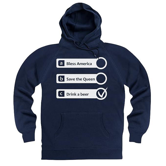 Shotdeadinthehead God Bless America Sudadera con Capucha, para Hombre: Amazon.es: Ropa y accesorios