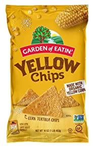 Garden of Eatin' Yellow Corn Tortilla Chips, 16 oz. (Pack of 12) (Packaging May Vary)