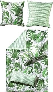 Mikrofaser Bettwäsche 135x200 Cm Blätter Natur Grün Amazonde