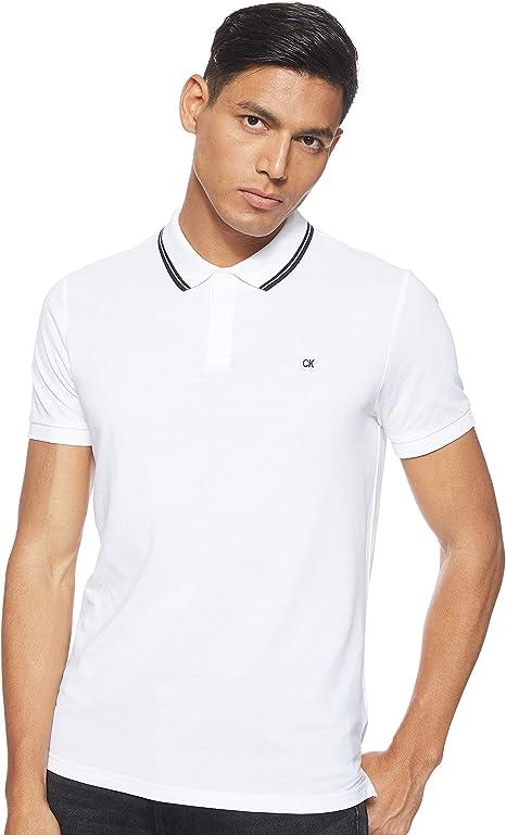 Calvin Klein Jeans Tipping Badge Pima Stretch Polo Bright White ...