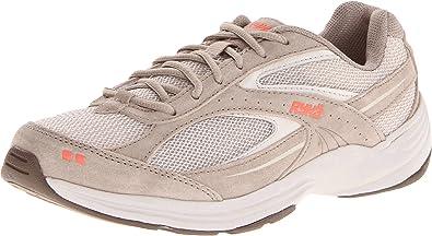 RYKA Women's Sport Walker 6 Walking Shoe,Taupe/Dark Brown/Orange,6