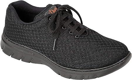 Zapatilla Tipo Blucher Unisex de la Marca DIAN, en Microfibra Color Negro - calpe-52