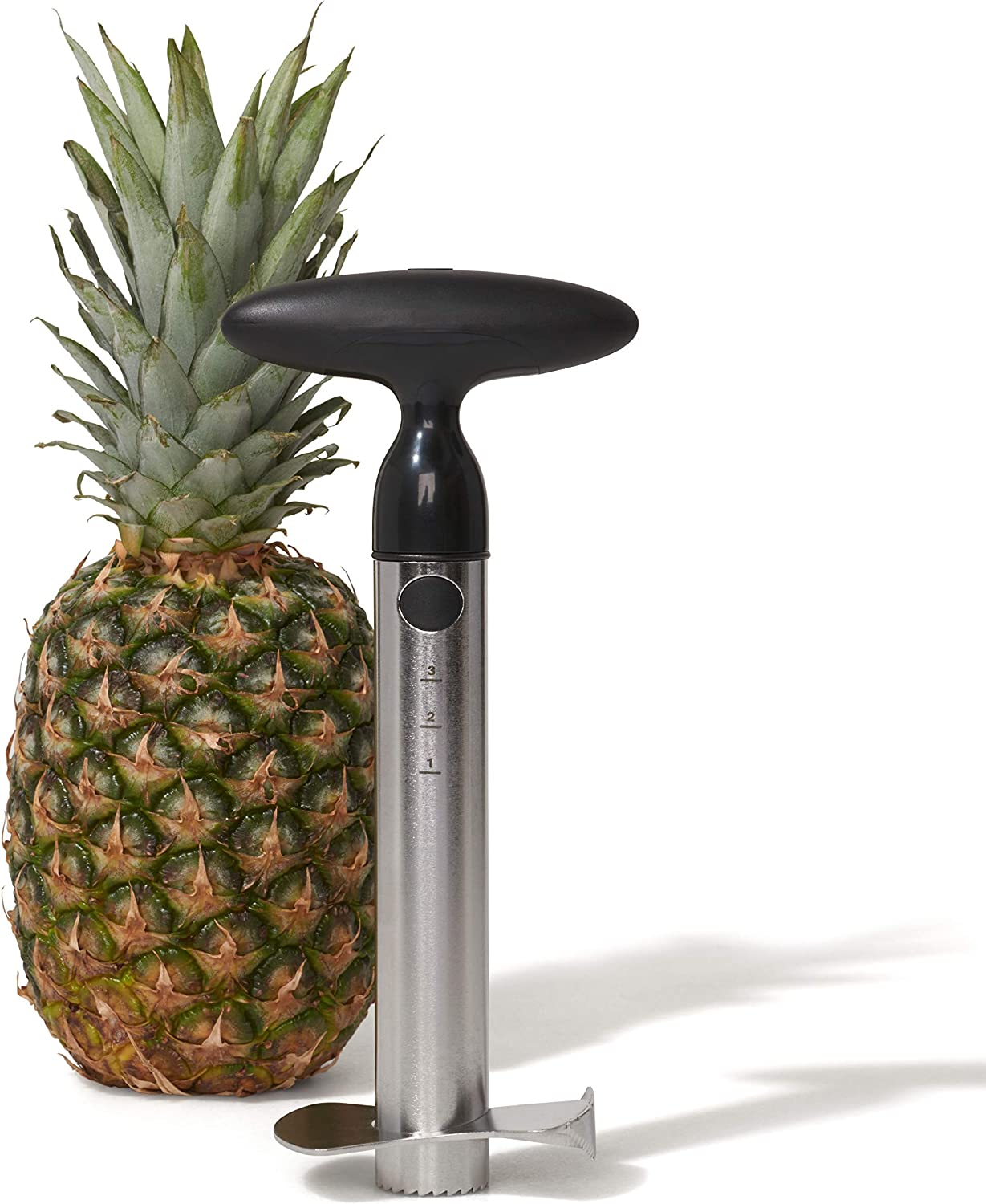 OXO 3108300 Good Grips Stainless Steel Pineapple Corer & Slicer,Silver/Black