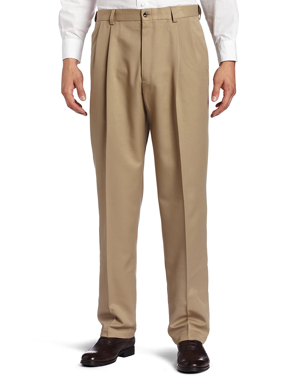 Haggar Men's Cool 18 Hidden Expandable Waist Pleat Front Pant Haggar Men's Bottoms 41714529486