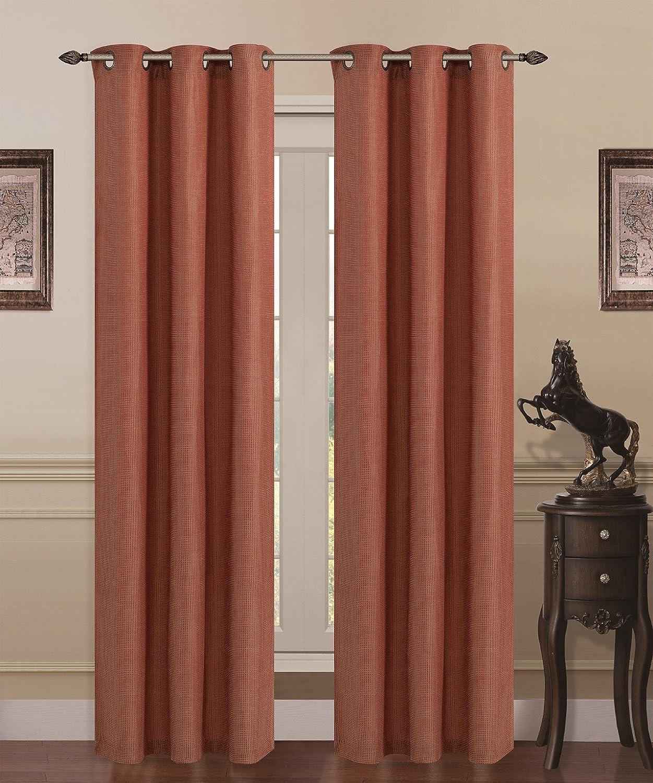 Palais Grommet Top Curtain Panel Rust Curtain Menzilperde Net